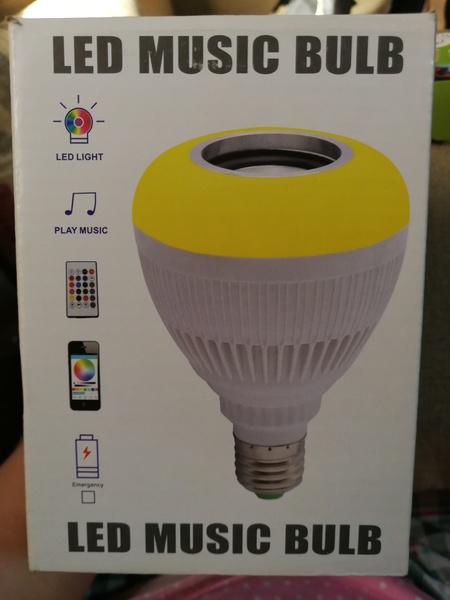 Used LED music bulb with remote control in Dubai, UAE