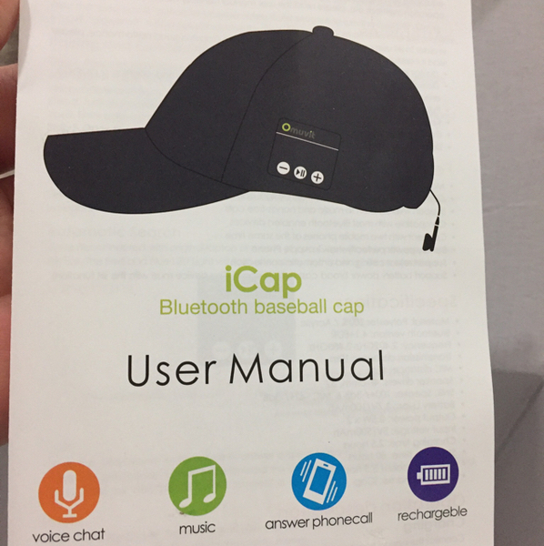 Used I Cap Bluetooth Cap For I Phone New Never Used  in Dubai, UAE