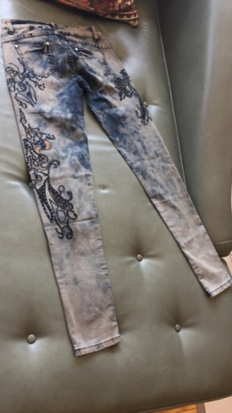 "Used New new Embroidery jeans 28""waist  in Dubai, UAE"