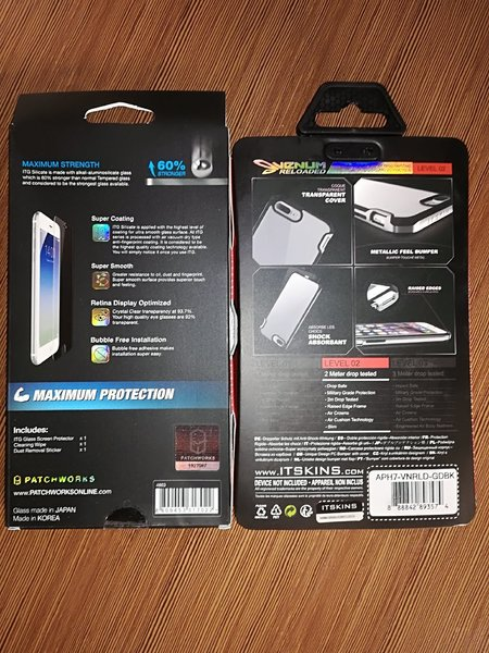 Used IPhone 7 screen Protector & case in Dubai, UAE