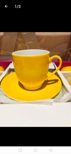 Used Yellow Tea Cup Set 12 Pcs in Dubai, UAE