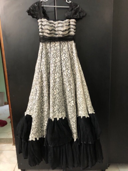 Used Black and white ball room gown in Dubai, UAE