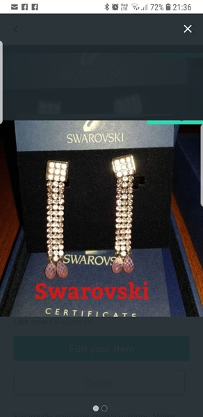 Used Swarovski crystal earrings in Dubai, UAE