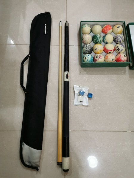 Used Pool billiard ball & cue stick for sale! in Dubai, UAE