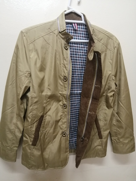 Used Zip-Up Thick Jacket Stand Collar Outwear in Dubai, UAE