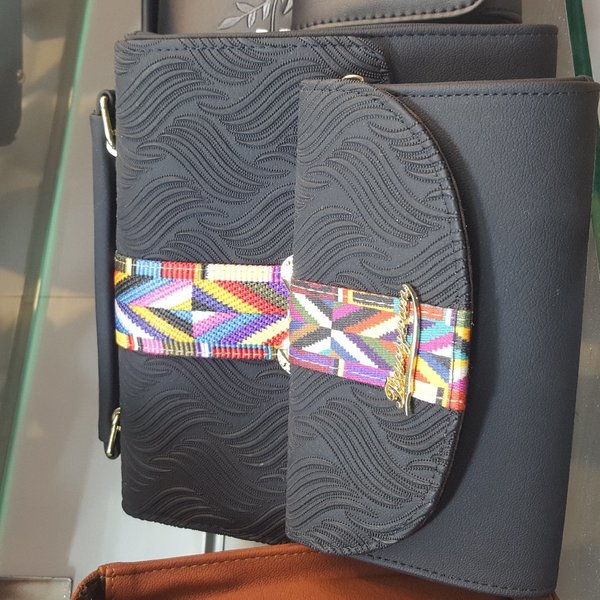 Used Leather Purse with Wallet in Dubai, UAE