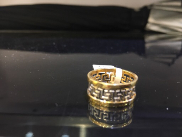 Versace design ring real gold