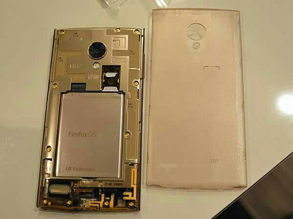 LG FX0 Smartphone New, 16GB, 4G LTE, Firefox OS - GOLD - Transparent. Made in Japan