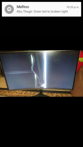 Used Samsung curved monitor broken screen in Dubai, UAE
