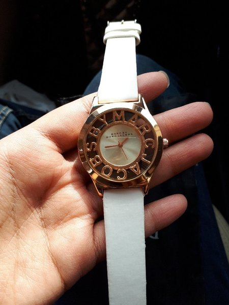 White watch by Marc Jacobs