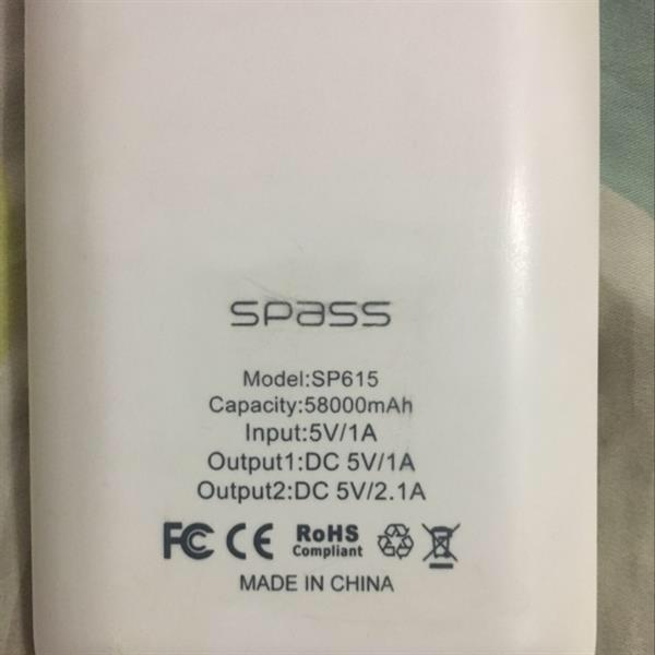 Used Spass Powerbank 58000 mAh in Dubai, UAE