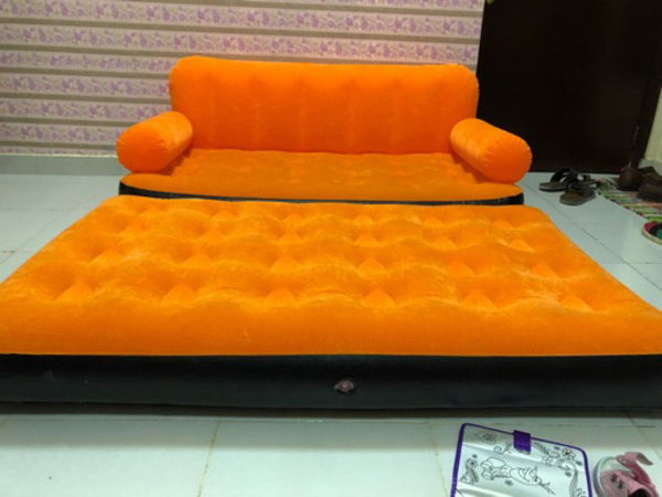 Intex sofa cum bed with electronic pump