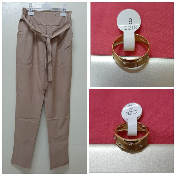 Used Women's high waist harem pants + gifts in Dubai, UAE