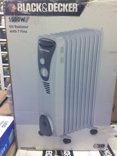 Used Black&Decker Oil Heater 1500W in Dubai, UAE