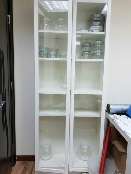 Used White cabinet with glass doors in Dubai, UAE