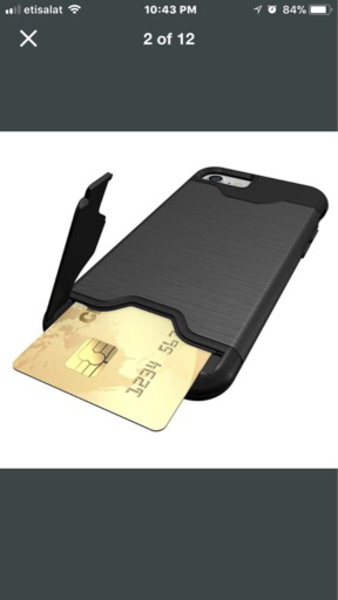 Used ShockProof with cardholder Iphone6 cover in Dubai, UAE