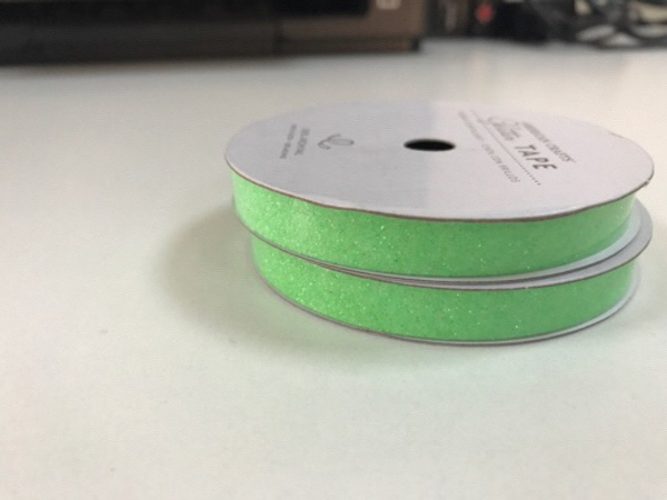 2 New Green Glitter Adhesive Tapes