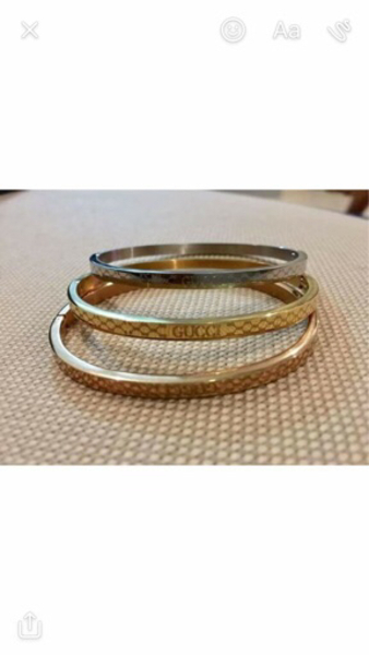 Used Stainless steel Gucci Bangles in Dubai, UAE