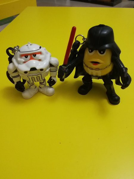 New M&M licensed Keychains. Whith Light.