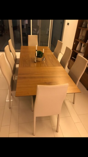 Used Dining table and 8 dining chairs in Dubai, UAE