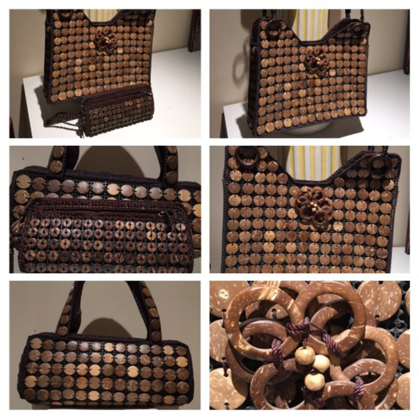 Used 3 Coconut Shell🌴Handbags🌴and necklaces in Dubai, UAE