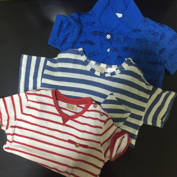 Used Kid's Clothes (girl and boy) plus bag in Dubai, UAE