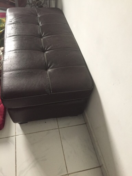 Used Leather Pouffe in Dubai, UAE