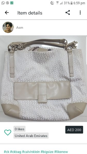 Used Calvin Klein bag like new in Dubai, UAE