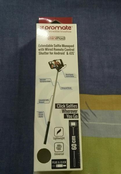Used Promate Extendable Monopod Selfie with wire and shutter in Dubai, UAE