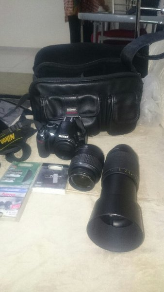 Used Nikon d3100+18-55+70-300+3 filters in Dubai, UAE