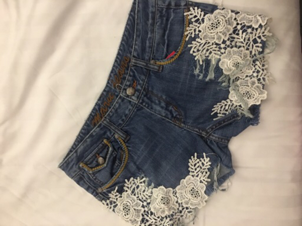 Used Brand new shorts with lace patches in Dubai, UAE