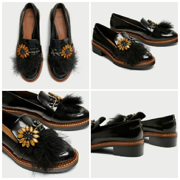 Used Brand New ZARA Bejewelled Loafers in Dubai, UAE