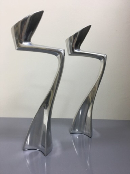 Used Two Contemporary Candle holders  in Dubai, UAE