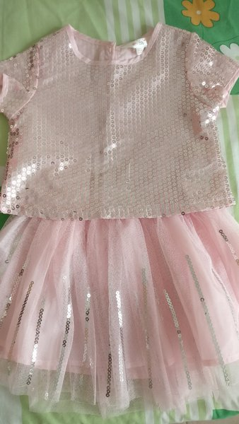 Used New Pink party dress size 18-24m in Dubai, UAE