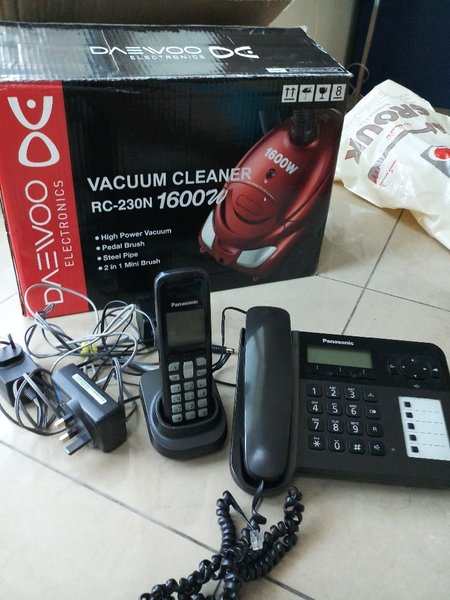 Used Daewoo vacuum  and Panasonic phone set in Dubai, UAE