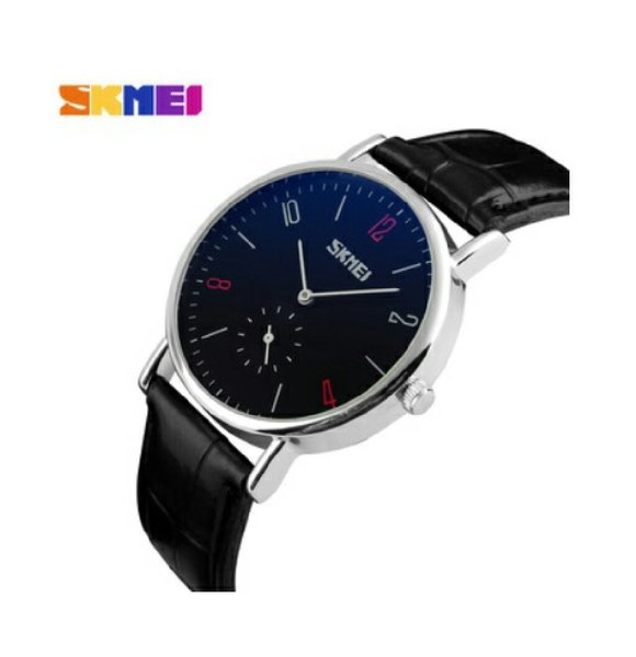 Used SKMEI Leather Watch {Both Dial Works} in Dubai, UAE