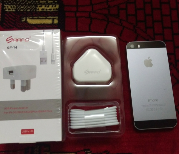 Used IPhone Charger & iPhone 3 Meters Flat USB Cable in Dubai, UAE