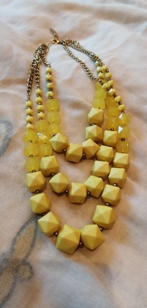 Used Yellow Charming Charlie necklace in Dubai, UAE