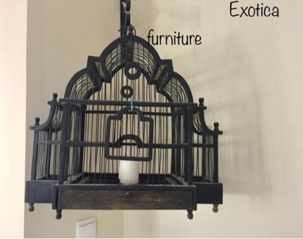 Used Antique wooden birdcage  in Dubai, UAE