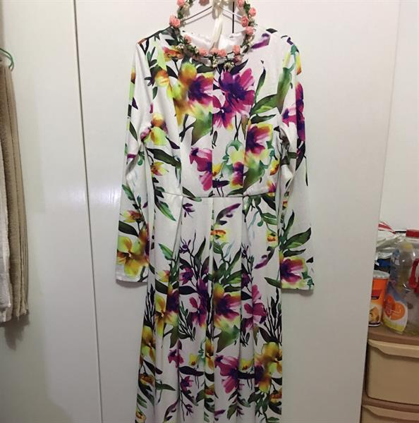 Used Long Floral Dress Nice  in Dubai, UAE