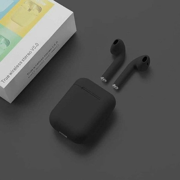 Used Wireless Blue tooth inpods12 Black color in Dubai, UAE