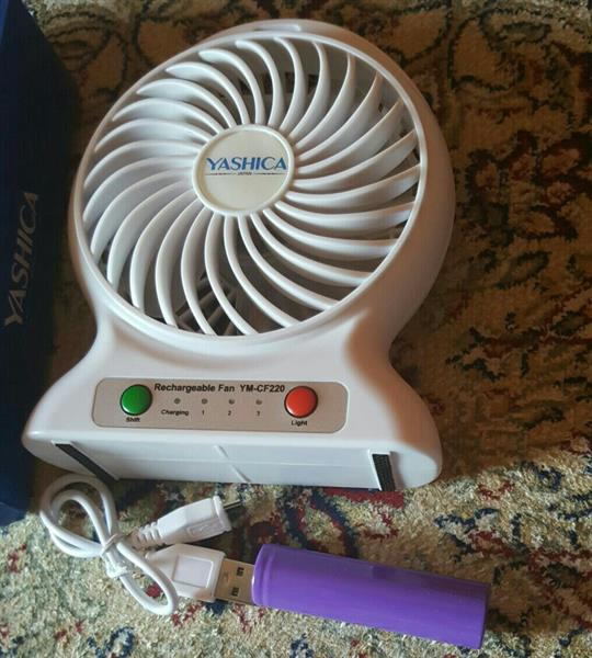 Used Rechargeable Fan With Power Bank Brand New...... in Dubai, UAE