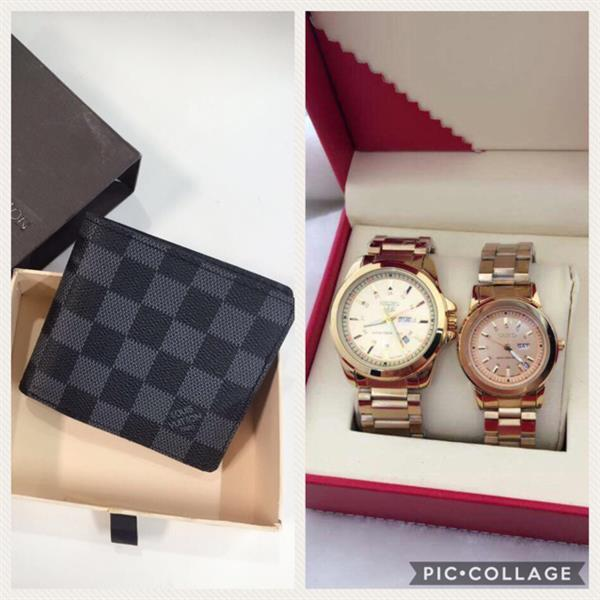 Used 2 Item 1 Of Couple Watch And One men's Wallet  in Dubai, UAE