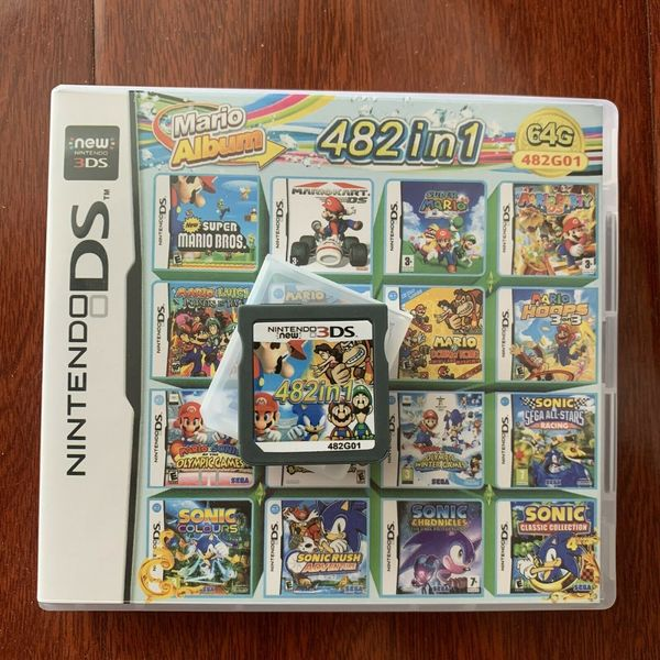 Used New Nintendo DS card 482 in1 mario album in Dubai, UAE