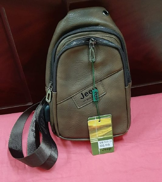 Used Jeep buluo Leather Crossbody Sling Bag in Dubai, UAE