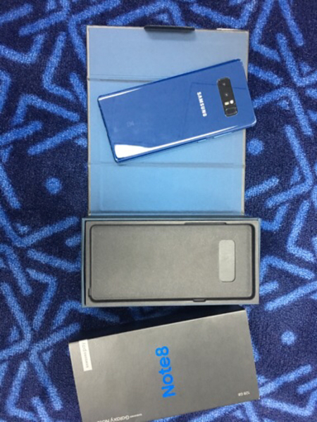 Used Samsung Note 8 128GB Blue Box Open in Dubai, UAE