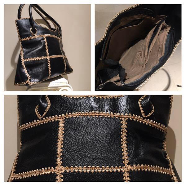 New genuine black Leather Tote Bag
