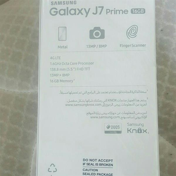 Used Samsung J7 Prime Brand New With One Year Warrenty Box Pack Gold in Dubai, UAE