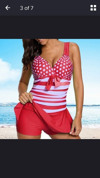 Used One piece red swimming set for ladies in Dubai, UAE
