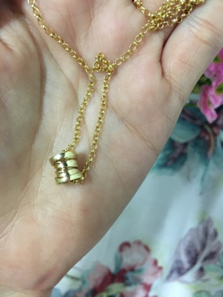 Used Bvlgari necklace 18k real gold in Dubai, UAE